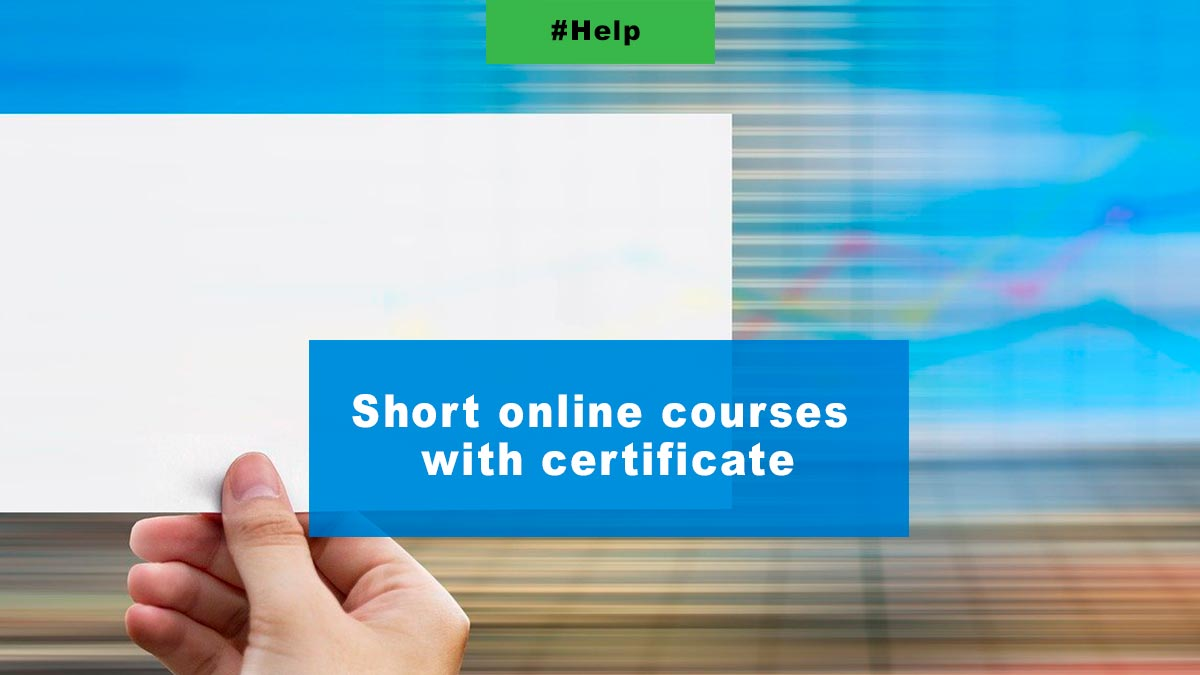 Short online courses with certificate